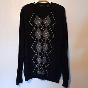 Argyle sweater black large